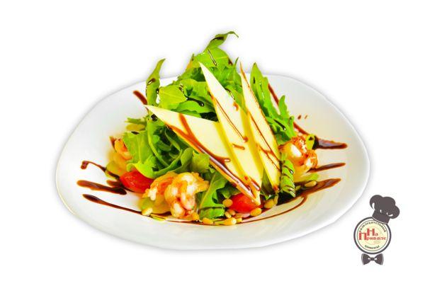 Соус для салата креветки с рукколой